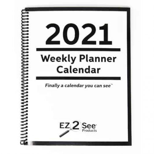 Cover of the 2021 EZ2See Weekly Planner Calendar