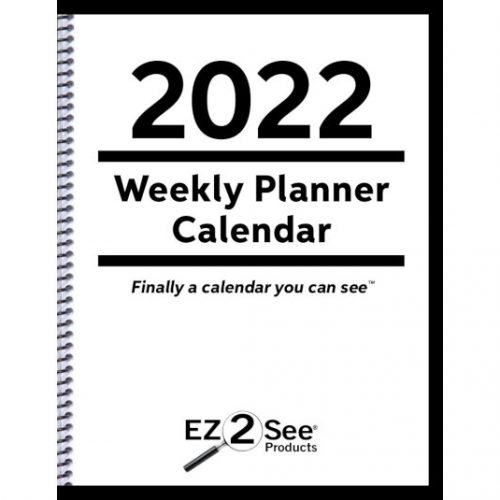 Cover of the 2022 EZ2See Weekly Planner Calendar