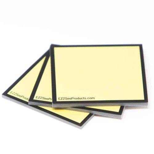 high contrast sticky note